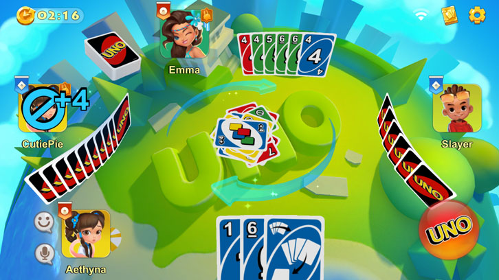 Gameplay for UNO!