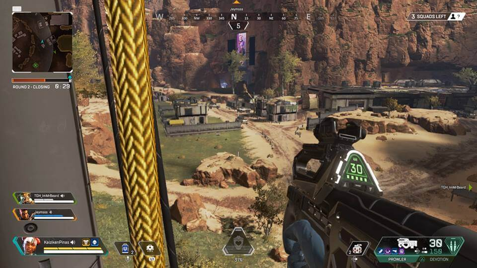 You can jump from high areas without suffering health damage in Apex Legends
