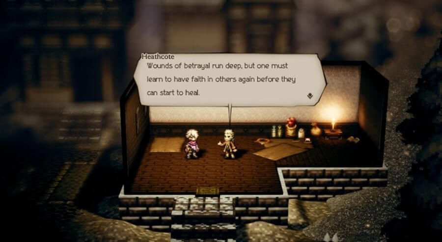 Characters in Octopath Traveler provide lots of quotable quotes