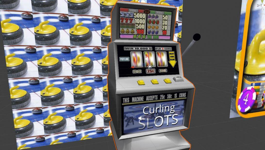 One good example is the 3D Curling Slots app. Photo courtesy of ArsTechnica