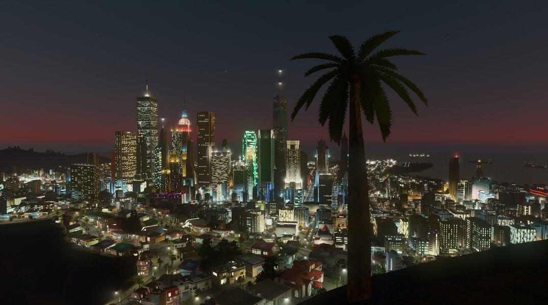 Los Santos Skyline in GTA V