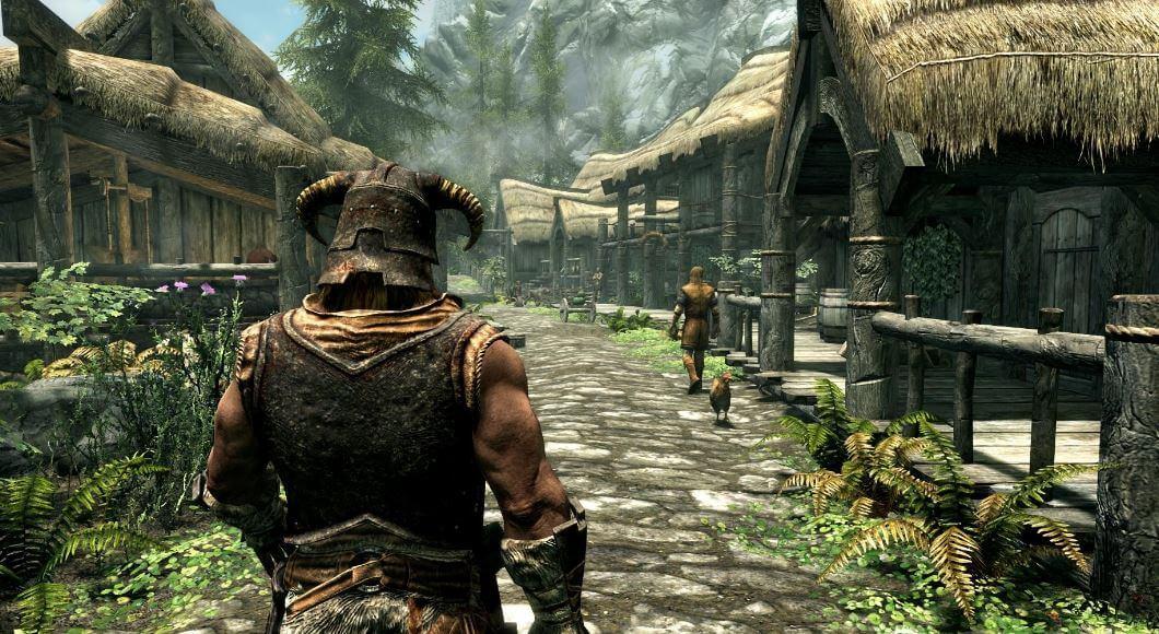 Dragonborn in Riverwood in Skyrim