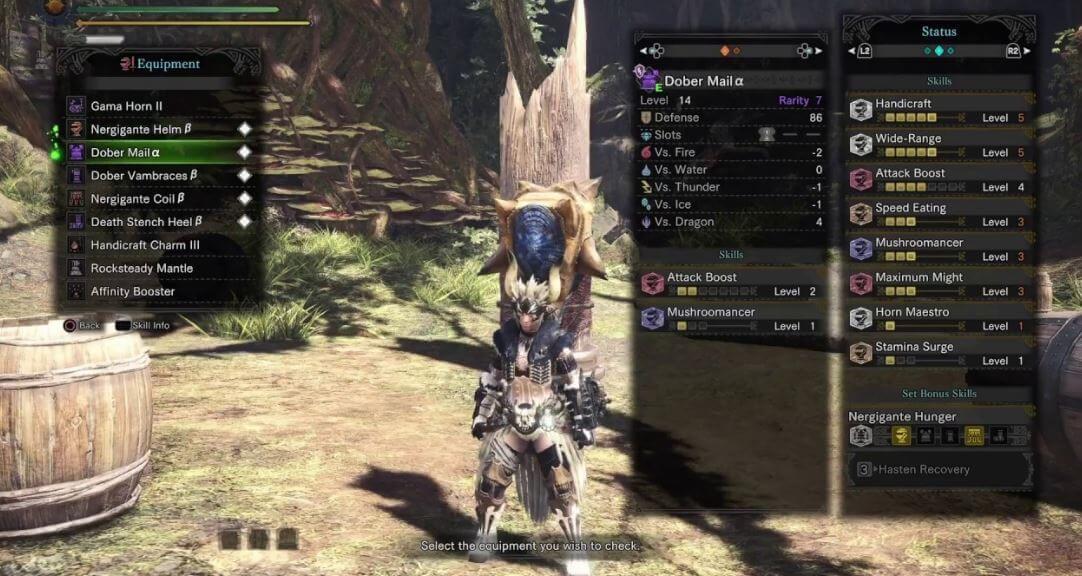 Hunting horn in Monster Hunter World