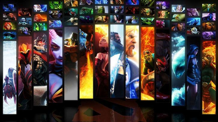 Heroes from DotA 2