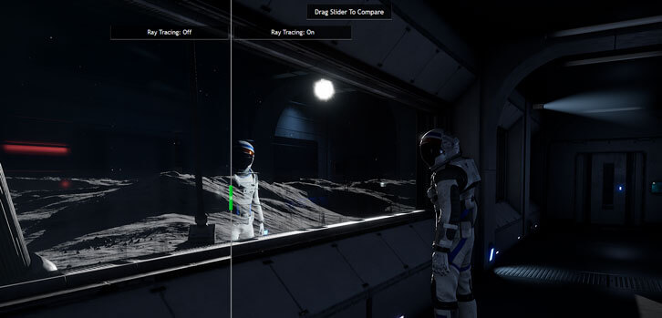 RTX adds realistic reflections to glassy surfaces