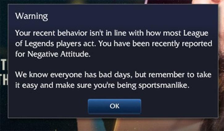 Negative behavior report