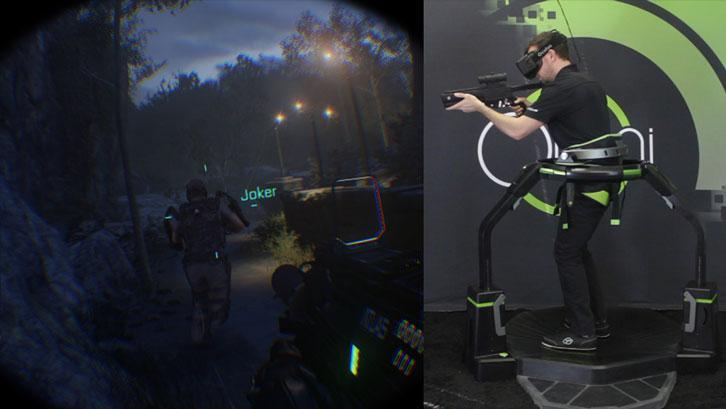 Playing Call of Duty: Advanced Warfare on the Virtuix Omni