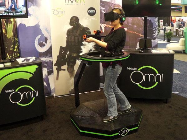 Virtuix omni demo at E3 games convention