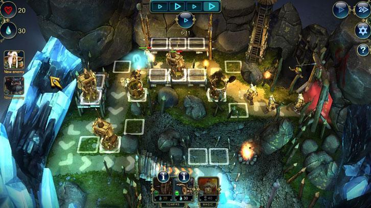 Gameplay in Prime World: Defenders