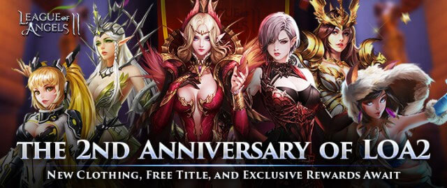League of Angels 2 Celebrates Its Second Anniversary With a Fantastic Giveaway