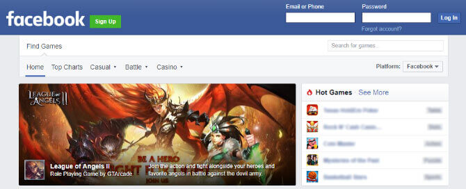 League of Angels II is Being Featured By Facebook