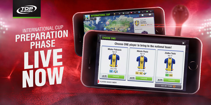 Lead Your Nation to Glory in Top Eleven and Lift the Greatest Prize in World Football