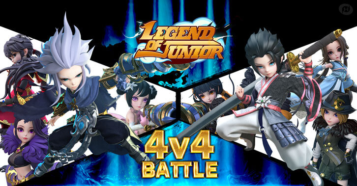 Experience Legend of Junior's Brand New 4V4 Team Battle!