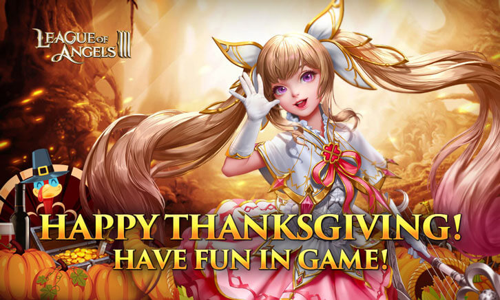 League of Angels III is Celebrating Thanksgiving with a Series of Updates