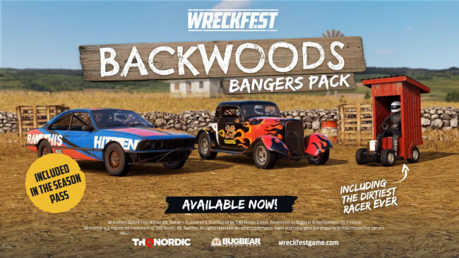 Wreckfest Backwood Bangers Pack Out Today!
