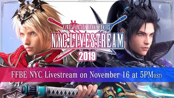 Final Fantasy Brave Exvius Announces New Content and Black Friday Activities at NYC Livestream Event