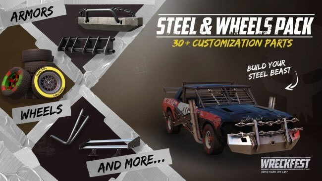Wreckfest Steel & Wheels Pack Out Today