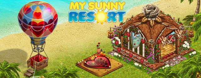 Decorate Your Resort for Valentine's Day in My Sunny Resort