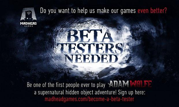 Adam Wolfe: Beta Testers Needed!