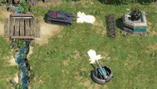 Fighting turrets in Battle Islands: Commanders