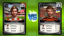 Match-up in Super Soccer Club