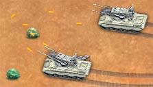 Tank battle in Desert Operations