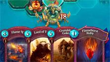 Cards at hand in Faeria