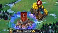 Throne: Kingdom at War: Captured gold mine on kingdom map
