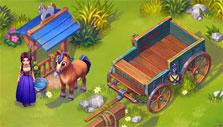 Your horse and wagon in Dakota Farm Adventures