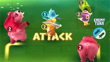 Legend of Solgard: Attacking the enemy