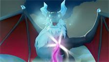 Fighting boss in Legend of Solgard