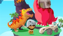 Dinosaurs in Greedy Gods: Islands & Treasures