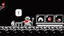 The shopkeeper in Downwell