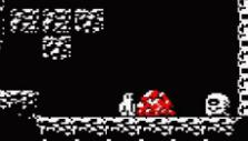 A pile of gems in Downwell
