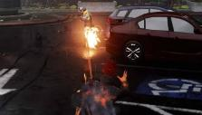 Firing cinder projectiles in inFamous Second Son