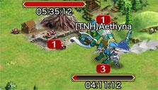 Crystal of Re:union: Battling monsters