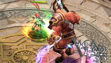 Boss fight in Sacred Saga Online