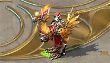 Killer Moa mount in Sacred Saga Online