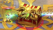 Sacred Saga Online: Fighting a treasure chest