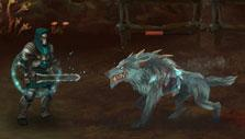 Moonfall: Fighting wolves