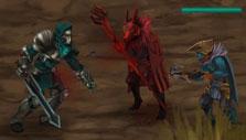 Combat in Moonfall