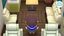 Inside your camper in Animal Crossing: Pocket Camp
