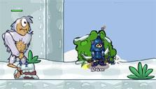 Winter biome in Helmet Heroes