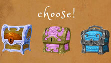 WordCrafting: Choose your treasure chest