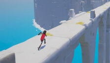 Running towards a tall pillar in Rime