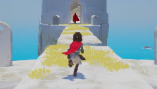 Running towards the shadowy figure in Rime