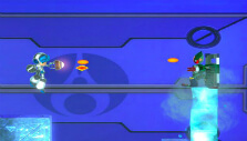 Using blasters in Mighty No. 9