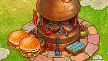 Producing burgers in Hay Bay Farm