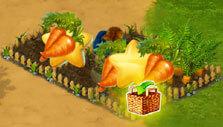 Harvesting crops in FarmCliff