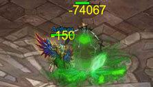 Fighting a stage boss in Sword Art Online